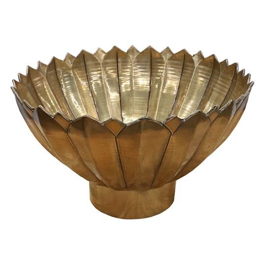 Brass Floral Bowl