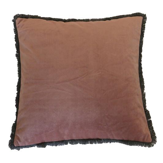 Velvet Fringed Cushion 45x45cm