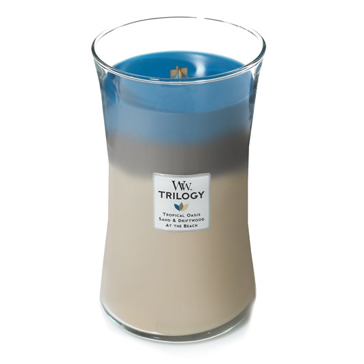 WoodWick Nautical Escape Trilogy Large Candle