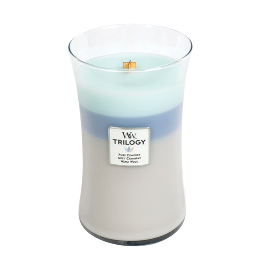 WoodWick Woven Comforts Trilogy Large Candle