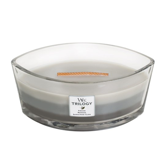 WoodWick Warm Woods Trilogy Hearthwick Candle