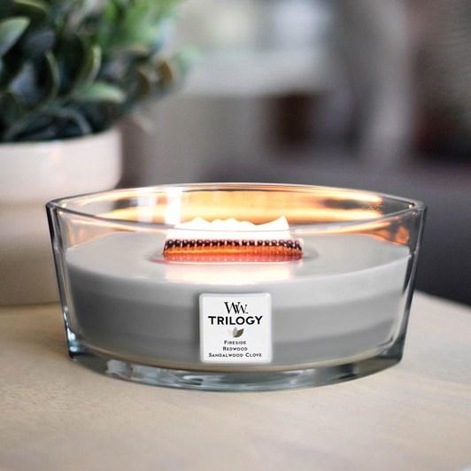 WoodWick Warm Woods Trilogy Hearthwick Candle