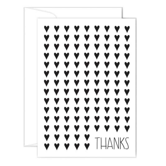 Poppy Card - Thanks - Hearts