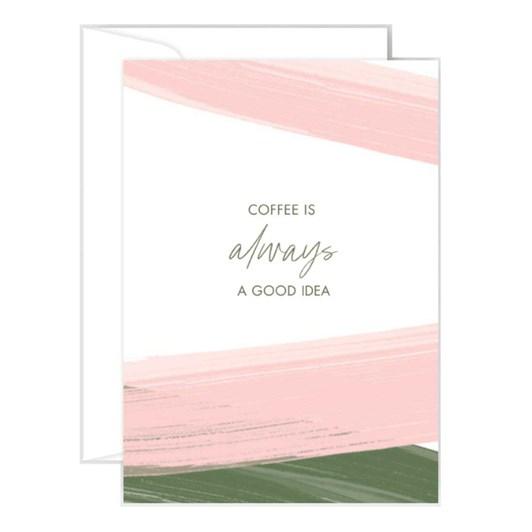 Poppy Card - Coffee