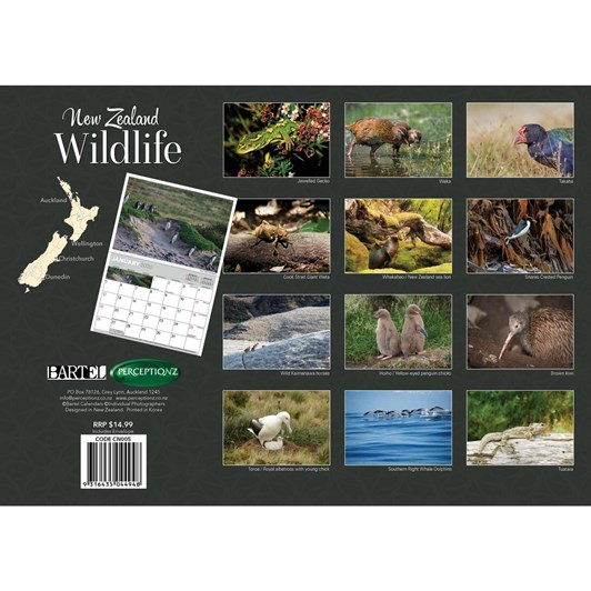 NZ Wildlife Calendar 2020 340x242mm