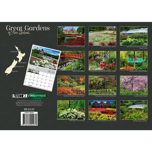 Great Gardens Of NZ Calendar 2020 340x242mm