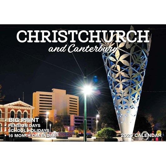 Christchurch & Canterbury Calendar 2020 304x215mm