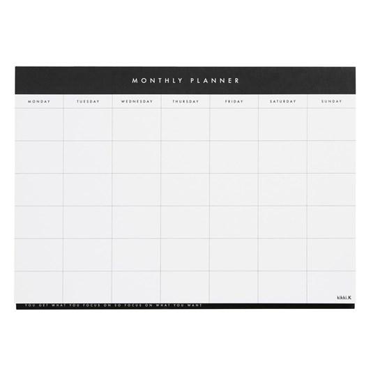 Kikki K Essentials A4 Monthly Planner Pad