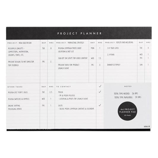 Kikki K Essentials A4 Project Planner Pad