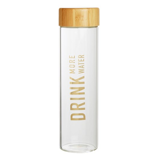 Kikki K Inspiration Glass Water Bottle