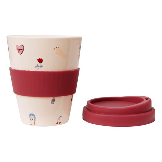 Kikki K There She Is Porcelain Travel Cup