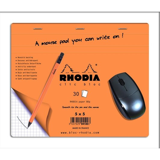 Rhodia Clic Bloc Mouse Pad 19x23cm 30 Sheets