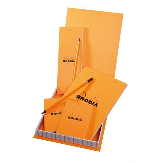 Rhodia Essentials Box 4 Stapled Pads+2 Pencils