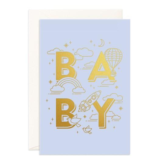 Fox & Fallow Baby Universe Blue Jumbo Card