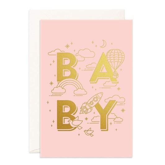 Fox & Fallow Baby Universe Pink Jumbo Card