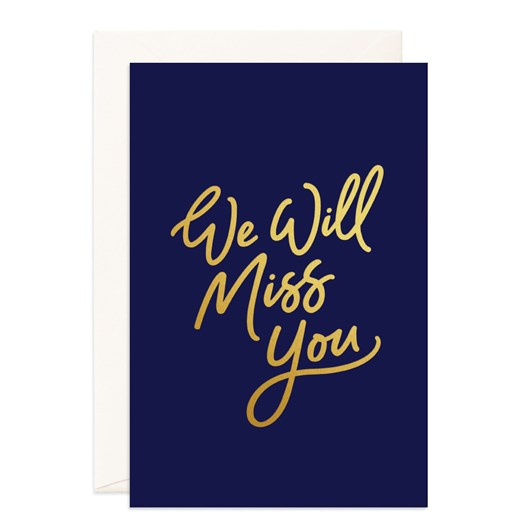 Fox & Fallow Miss You Navy Jumbo Card