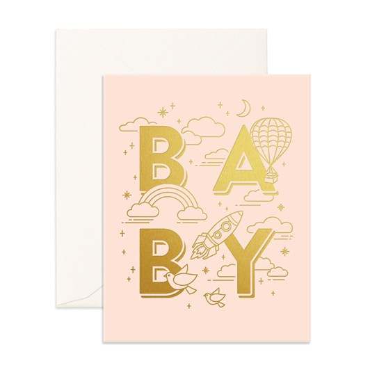 Fox & Fallow Baby Universe Cream Card