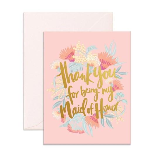 Fox & Fallow Thank You Maid Card