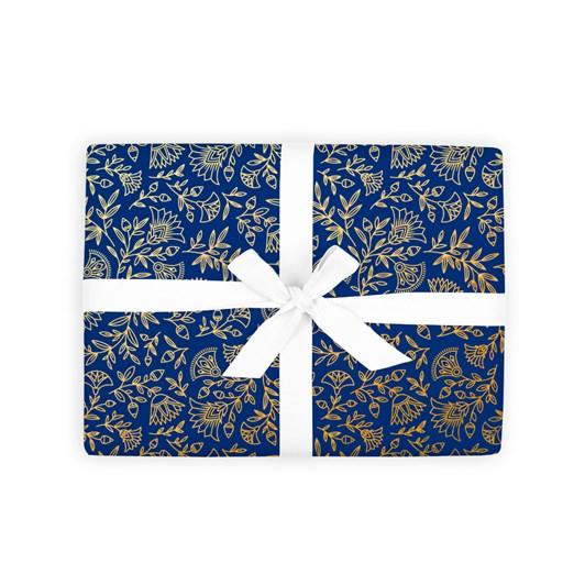Fox & Fallow navy Amulet Sheet Wrap