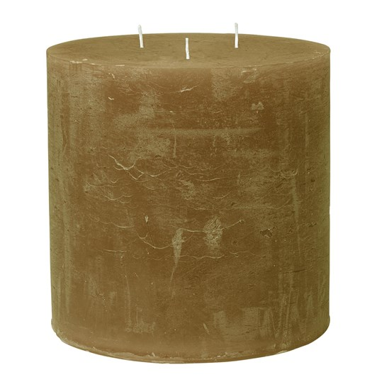Cozy Living Rustic Candle 15X15 Amber