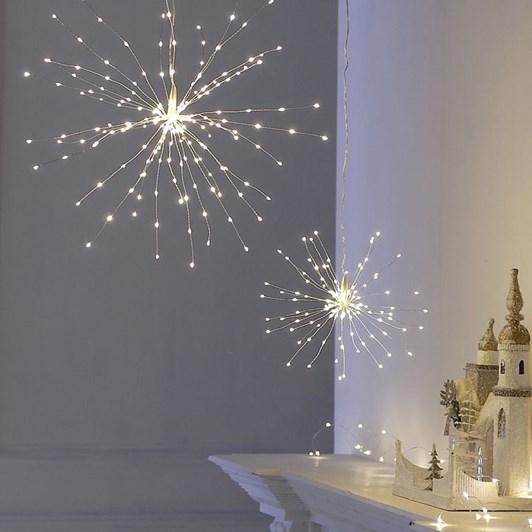 Stellar Haus Large Plug In Starburst Silver Warm White 50cm