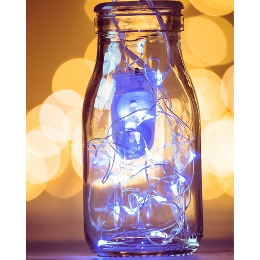 Stellar Haus 100 LED Seed Light String 10m Silver Cool White AA