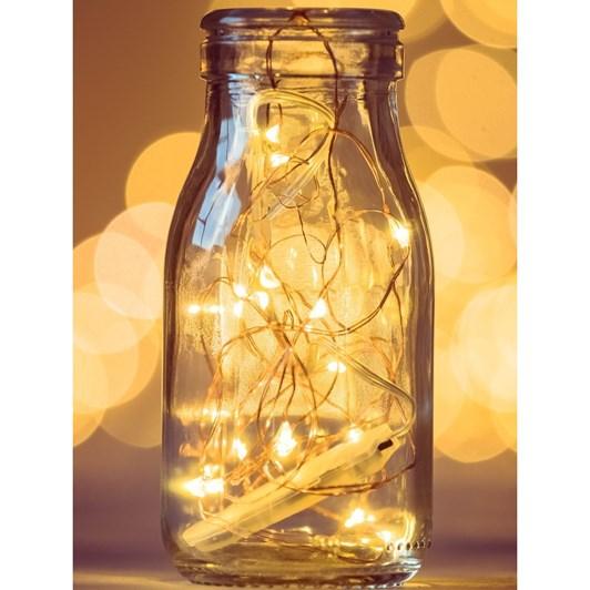 Stellar Haus 100 LED Seed Light String 10m Copper Warm White AA