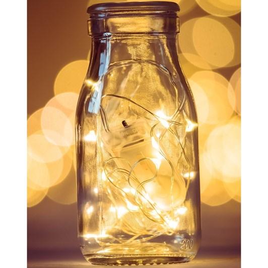 Stellar Haus 100 LED Seed Light String 10m Silver Warm White AA
