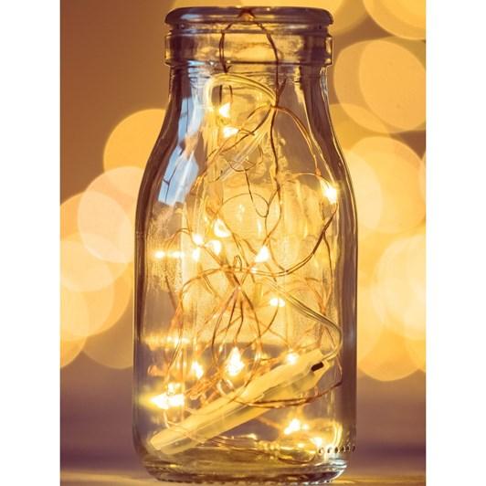 Stellar Haus 50 LED Seed Lights 5m AA Copper Warm White