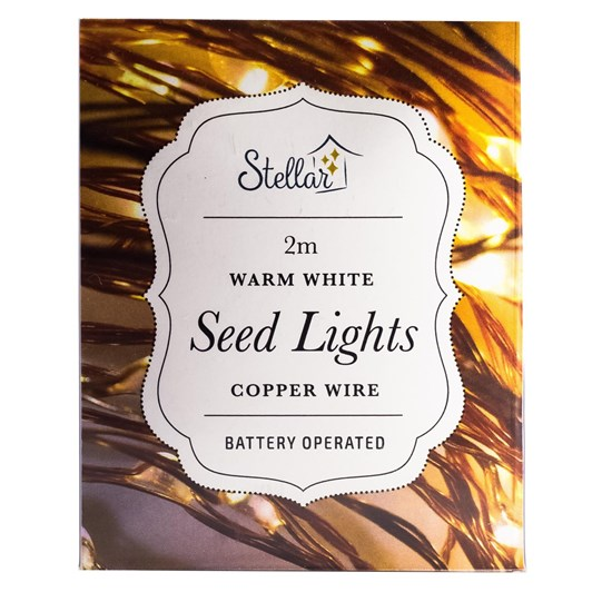 Stellar Haus 20 LED Seed Lights 2m Copper Warm White