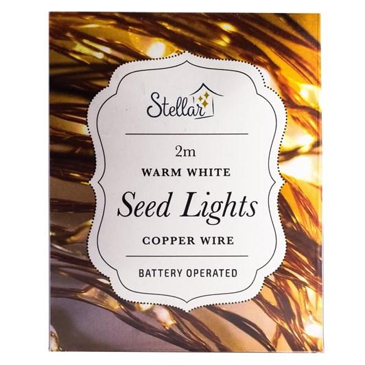 Stellar Haus 20 LED Seed Lights 2m Copper Warm White