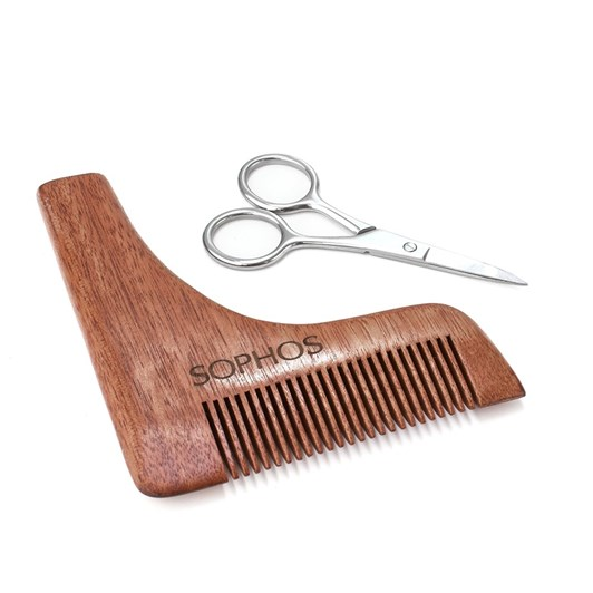 Sophos Beard Shaping Comb And Scissors