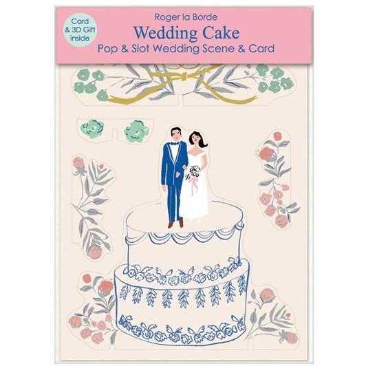 Roger La Borde Wedding Cake 3D Card
