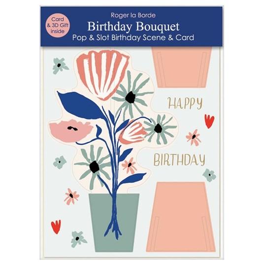 Roger La Borde Birthday Bouquet 3D Card