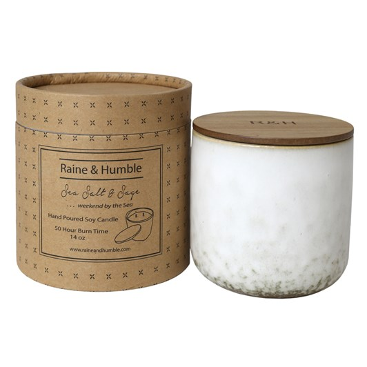 Raine & Humble Sea Salt & Sage Candle Scented In Canister 50Hr