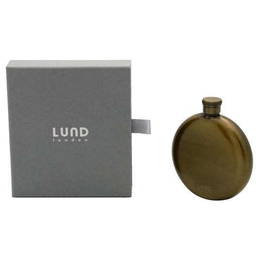 Lund London Luxe Round Hip Flask Antique Brass