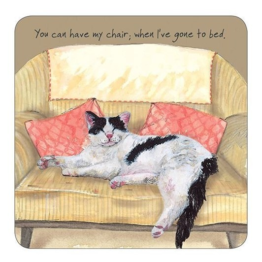 Little Dog Laughed Chair Bed Coaster