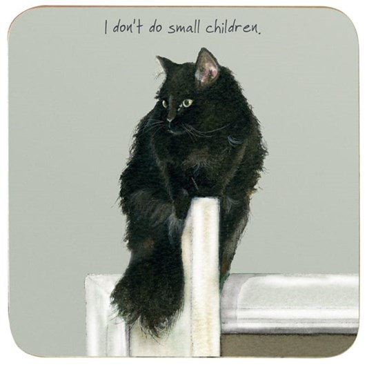 Little Dog Laughed Small Children Coaster