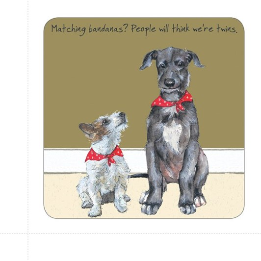 Little Dog Laughed Twins Coaster