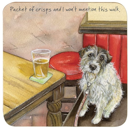 Little Dog Laughed Pint Coaster