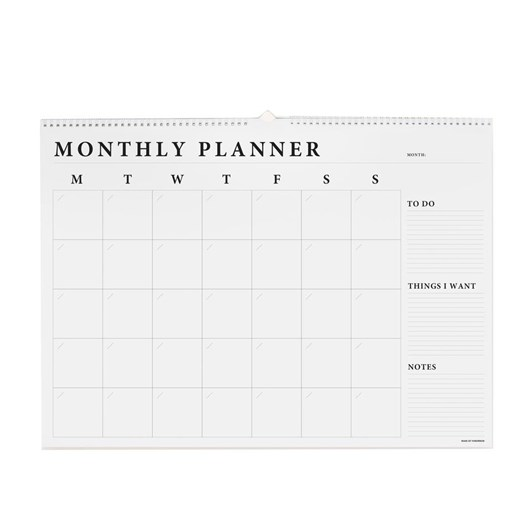 Made Of Tomorrow A2 Monthly Planner