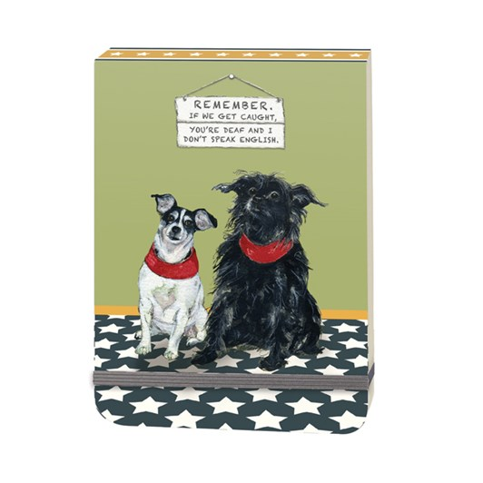 Little Dog Laughed Caught Slim Notebook