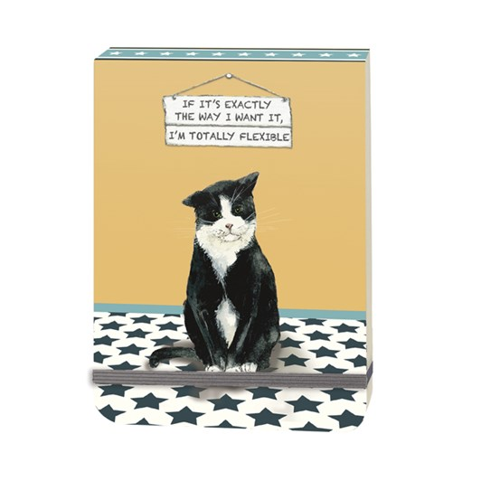 Little Dog Laughed I'm Totally Flexible Black Cat Notebook