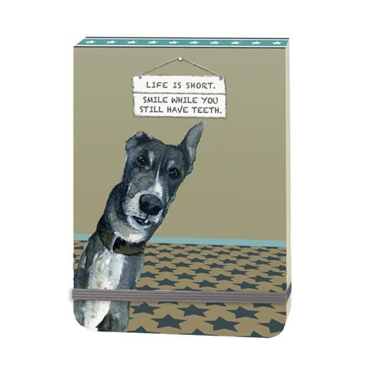 Little Dog Laughed Smile Slim Notebook