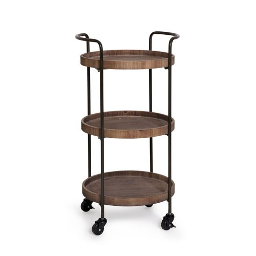 Trolley Bar Hendrick 3Tier 41X40X80Cm