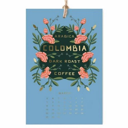 Rifle Paper Coffee & Tea Wall Calendar