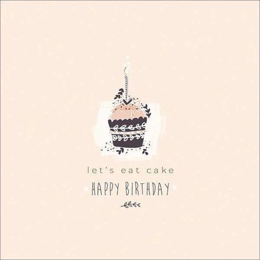 Vevoke Card Birthday Cupcake