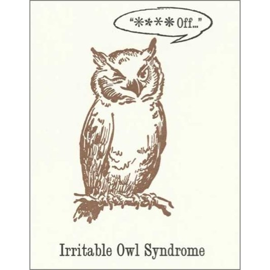 Vevoke Card Irritable Owl Syndrome