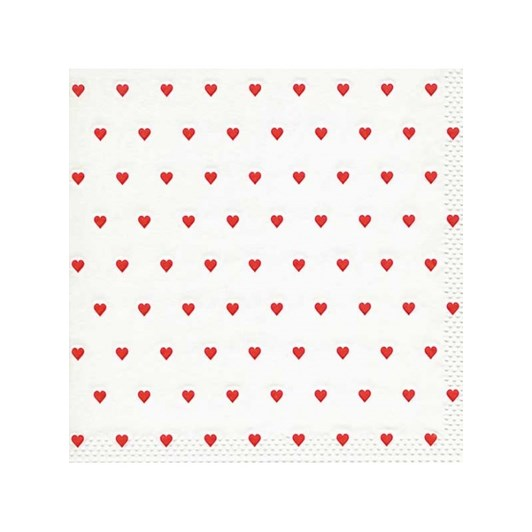 """Moments """"Petits Coeurs Red"""" Luncheon Napkin"""