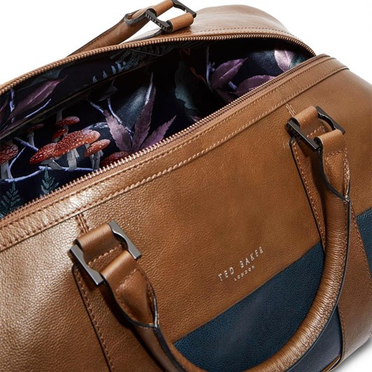 Ted Baker Striped Leather Holdall